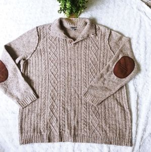 Johnson & Murphy lambswool sweater cable knit